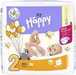 BELLA HAPPY Mini 2 (3-6 kg) Big Pack 78 ks - jednorázové plenky