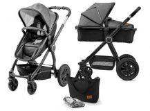 Kombinovaný kočárek KINDERKRAFT 2v1 Veo – Black/Grey
