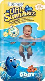 HUGGIES® Little Swimmers vel. 2-3 (3-8 kg), 12 ks - jednorázové