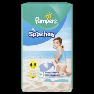 PAMPERS Pants Splashers Carry Pack vel. 4-5 (9-14 kg), 11 ks - jednorázové pleny do vody