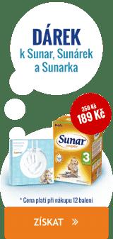 Při nákupu výrobků Sunar, Sunárek a Sunarka nad 1999 Kč získáte jako dárek otisk ručičky značky Pearhead.