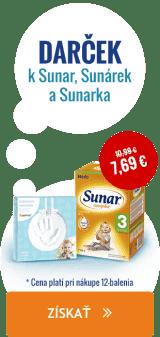 Pri nákupe výrobkov Sunar, Sunárek a Sunarka nad 75 € získate ako darček odtlačok ručičky značky Pearhead.
