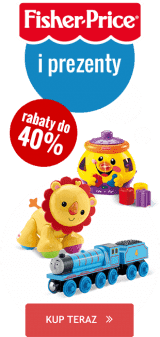 Fisher Price i Bright Starts z prezentami