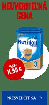 Nutrilon za neuveritelnou cenu 11,99 Euro za kus. Platí pri nakupe 6ti balenia.