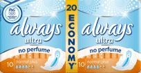 ALWAYS Ultra DUO Normal Plus (20ks) – dámske vložky (Premium klub)
