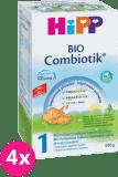 4x HIPP 1 BIO Combiotik - počiatočná mliečna dojčenská výživa 600 g