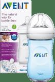 AVENT Fľaša Natural 260 ml (PP), 1 ks + 1 ks modrá zadarmo
