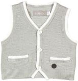 BOBOLI Společenská propínací vesta, vel. 74 cm - bílá, kluk