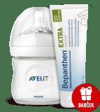 AVENT fľaša 125ml Natural PP+30g Bepanthen