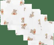 Libštátské pleny Dětská bavlněná plena, 70x70 cm, potisk, 5ks, Brumla s medem