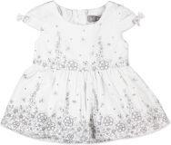 BOBOLI Elegantní společenské šaty, vel. 98 cm - bílá, holka
