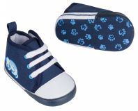 G-MINI Kapciuszki na rzep piesek (rozm. 3) - niebieskie