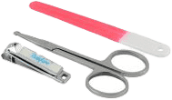 BABY ONO Set - dětská manikúra – fialová