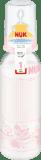 NUK Láhev PP 240 ml, silikon (0-6 m), M - růžová
