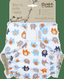PETIT LULU Kalhotková plena na suchý zip (4 - 15kg) - Sloníci oranžoví