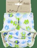 PETIT LULU Novorozenecká plenka (2 – 6 kg) – Sloníci modro-zelení