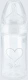 NUK New Classic Láhev Love PP 150 ml, silikon, velikost 1, (0-6 m), M – bílá