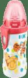 NUK First Choice Láhev PP Active Cup Medvídek Pú, 300 ml, silikonové pítko (12m+) – bílá s červený