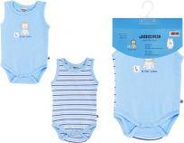 JACKY Body Baby Boy 2 ks, vel. 74/80 - modrá, kluk