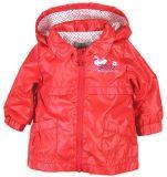 BOBOLI Jarní/podzimní bunda s odepínací kapucou, vel. 74 cm - červená, holka