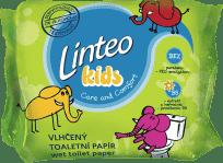 LINTEO Kids vlhčený toaletný papier 60ks, sáčok