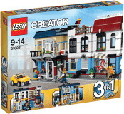 LEGO® CREATOR Moto shop a kaviareň