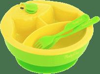 BABY ONO Miska trojdílná s příborem – zelená