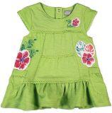 BOBOLI Šaty s volánkem, květ, vel. 74 cm - zelená, holka
