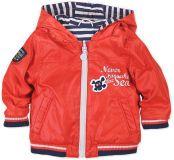 BOBOLI Oboustranná bunda s kapucí, vel. 80 cm - červená, kluk