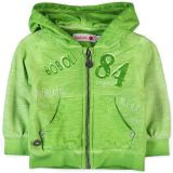 BOBOLI Mikina se zipem a kapucou, vel. 74 cm - zelená, kluk