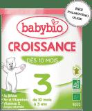 BABYBIO Croissance 3 rastové mlieko v prášku 900g