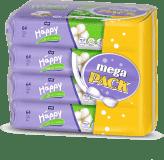 BELLA HAPPY čistiace obrúsky hodváb a bavlna 4x64ks (mega pack)