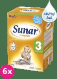 6x SUNAR Complex 3 (600g) – kojenecké mléko