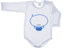 FEEDO dětské body KRAB (modrá), vel. 62  (FEEDO klub)