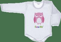 FEEDO dětské body SOVA (růžová), vel. 68 (FEEDO klub)