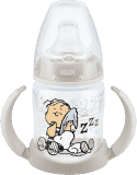 NUK FC Láhev na učení Snoopy - PP 150ml, silikonové pítko – bílá (Premium klub)
