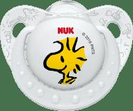NUK Dudlík Trendline Snoopy, silikon, velikost 2 (6-18m.) - bílý (Premium klub)