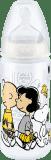 NUK Láhev First Choice+ Snoopy, PP 300 ml, silikon (6-18 m), M – bílá