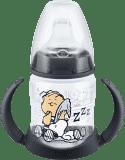 NUK FC Láhev na učení Snoopy - PP 150ml, silikonové pítko – černá