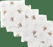 Libštátské pleny Dětská bavlněná plena, 70x70 cm, potisk, 5ks, Medvídek v růžovém