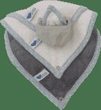 LULLALOVE Kousátko SuperRRO baby hevea sada růžové + krémové + šedé