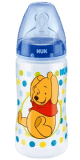 NUK First Choice láhev Disney PP, 300 ml, silikon (0-6 m), M – modrá