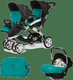 CASUALPLAY Set kočárek pro dvojčátka Stwinner, 2x autosedačka Baby 0plus a Bag 2015 - Allports