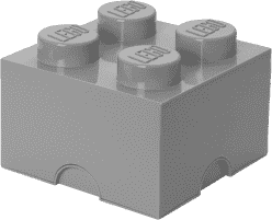 LEGO® Box do przechowywania rozmiar 3 szary