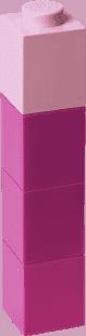 LEGO® Fľaša na pitie štvorcová, fialová