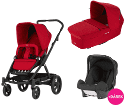 BRITAX Kombinovaný kočárek GO 2016 – Flame red