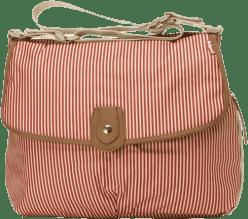 BABYMEL Přebalovací taška Satchel červený proužek