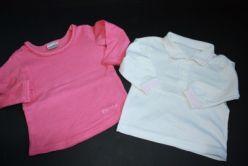 2x tričko - s límečkem a růžové