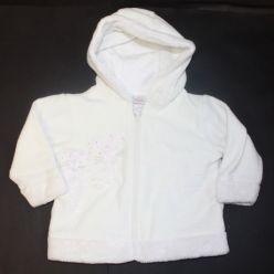 Mikinka fleece bílá