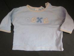 Tričko modré s nápisem